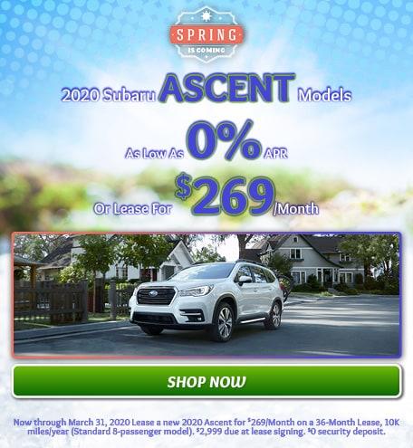March - New 2020 Subaru Ascent