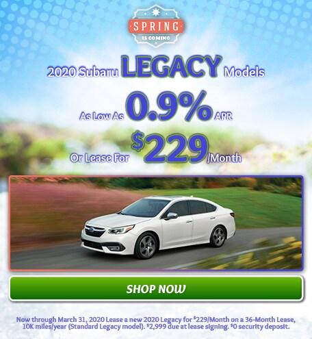 March - New 2020 Subaru Legacy