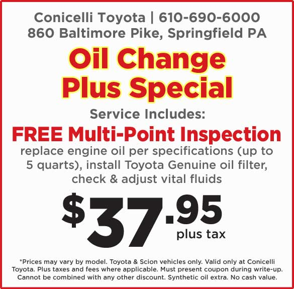 Toyota Service Coupons >> Toyota Service Specials Near Chester Pa Toyota Parts Coupons