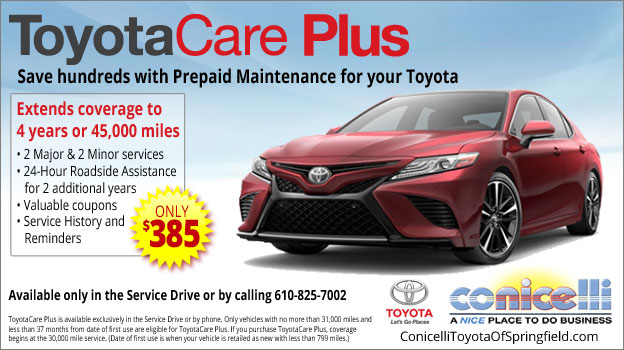 Toyotacare Roadside Assistance Number >> Toyotacare Plus Schedule Toyota Service Near Upper Darby Pa
