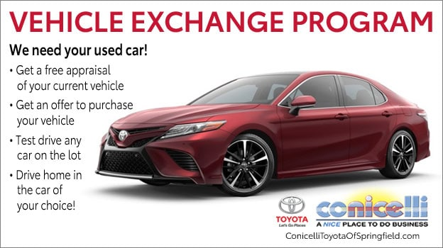 Vehicle Exchange At Conicelli Toyota Of Springfield