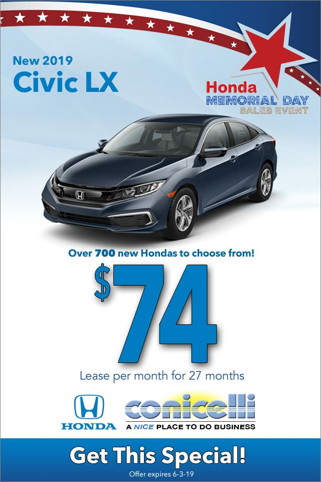 Honda Finance Specials >> New Honda Lease And Finance Specials In Conshohocken Conicelli