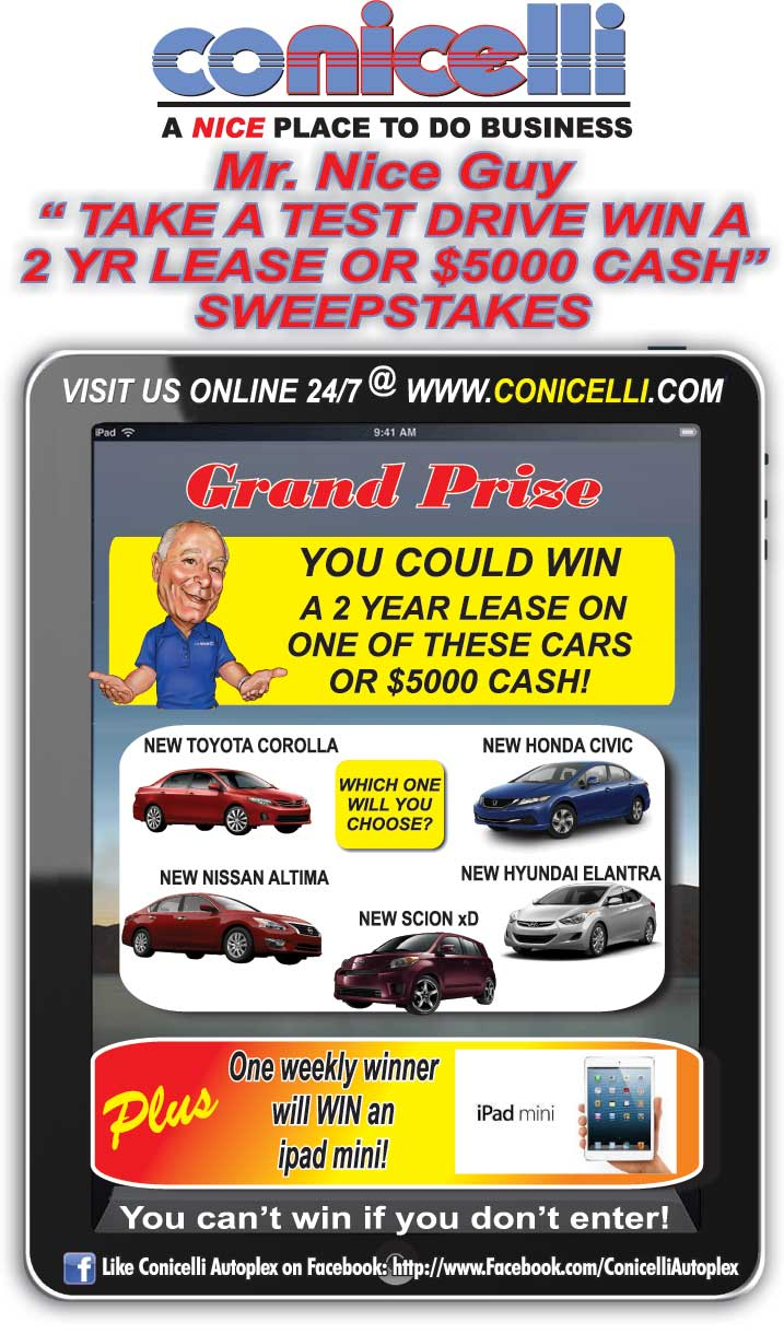 Car Ride Giveaway | Conicelli Toyota of Springfield