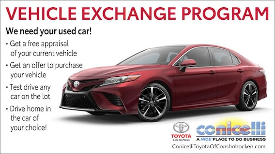 Vehicle Exchange Program Trade In Your Car Near Norristown Pa