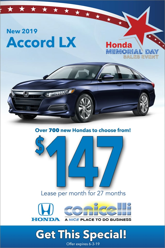 New Honda Lease And Finance Specials In Conshohocken Conicelli