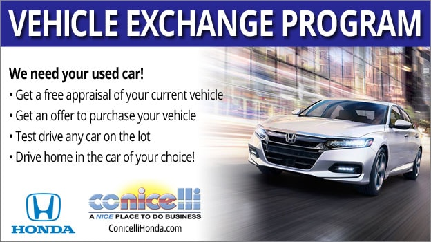 Vehicle Exchange at Conicelli Honda | Conicelli Honda