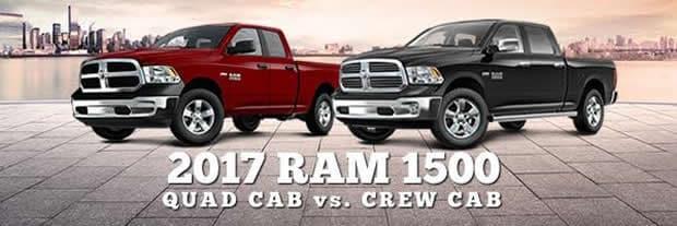 2017 ram 1500 crew cab vs quad cab manchester area ram. Black Bedroom Furniture Sets. Home Design Ideas