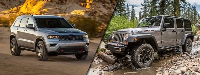 2017 Jeep Grand Cherokee vs Jeep Wrangler Unlimited