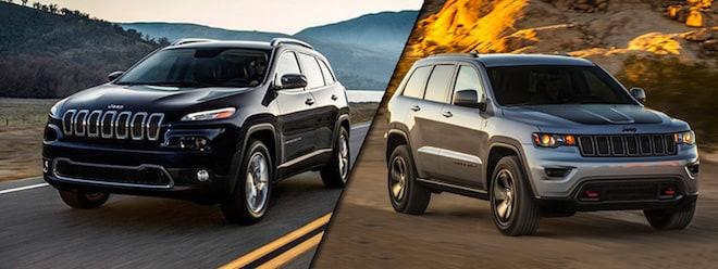 2017 jeep cherokee vs jeep grand cherokee milford jeep dealer. Black Bedroom Furniture Sets. Home Design Ideas
