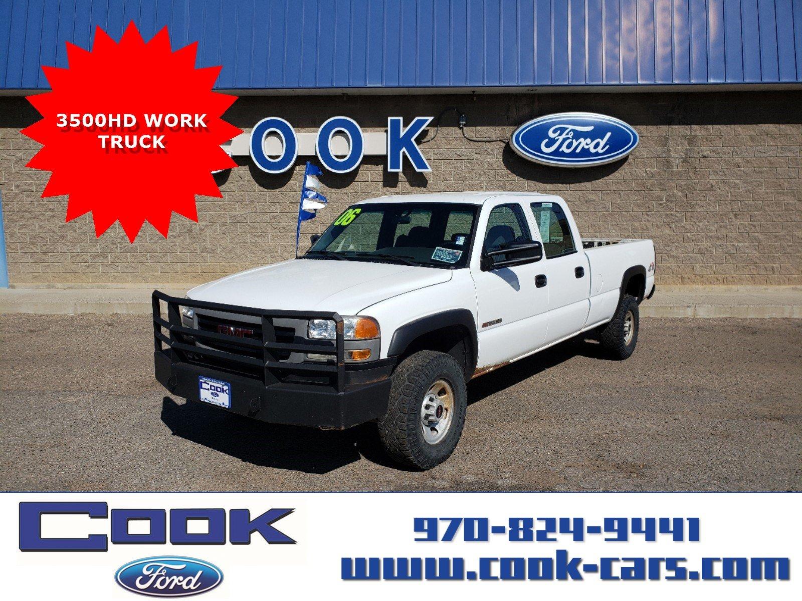 2006 GMC Sierra 3500 SRW Work Trk Truck Crew Cab