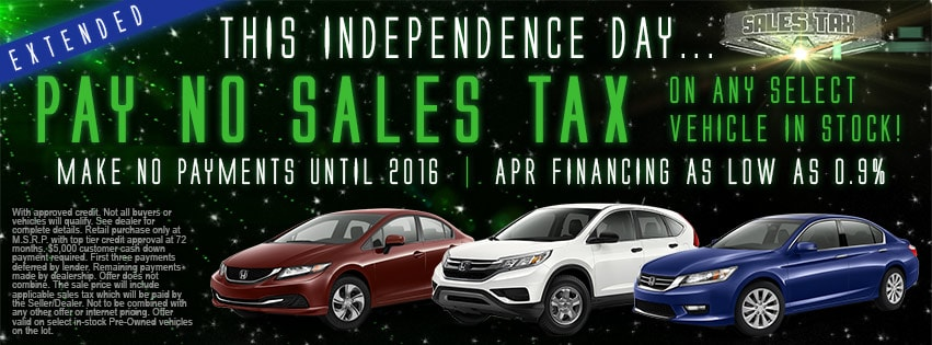 Cookeville Honda No Sales Tax Sale