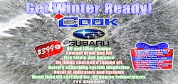 Get Ready for Winter at Cook Subaru!