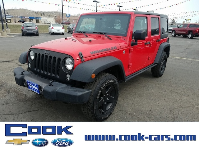 Used 2016 Jeep Wrangler Unlimited Black Bear For Sale in Steamboat Springs,  CO | Serving Hayden & Routt County, CO | VIN: 1C4BJWDG1GL133746
