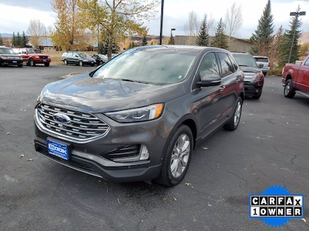Featured Used 2019 Ford Edge Titanium SUV for Sale in Steamboat Springs, CO