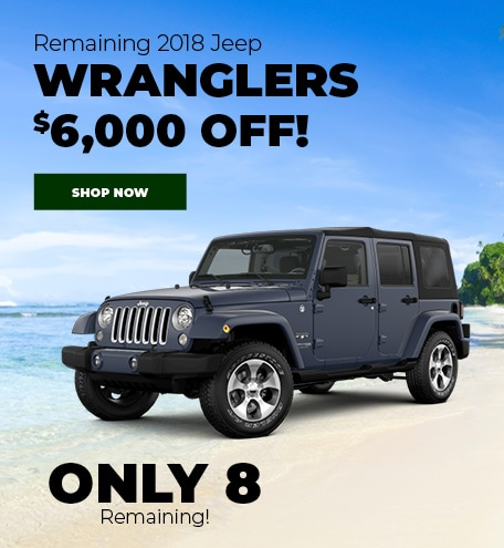 Remaining 2018 Jeep Wranglers