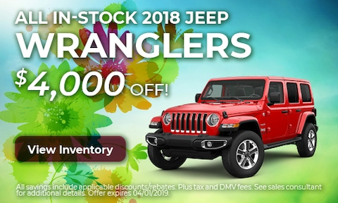 All In-Stock 2018 Jeep Wranglers - March