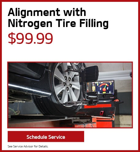 Alignment with Nitrogen Tire Filling