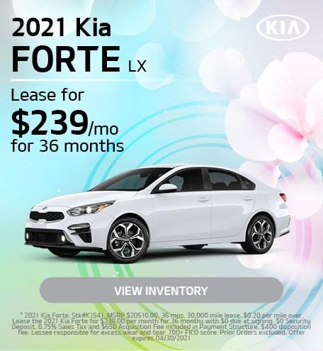 2021 Kia Forte LX | April