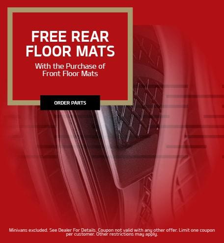 Free Rear Floor Mats