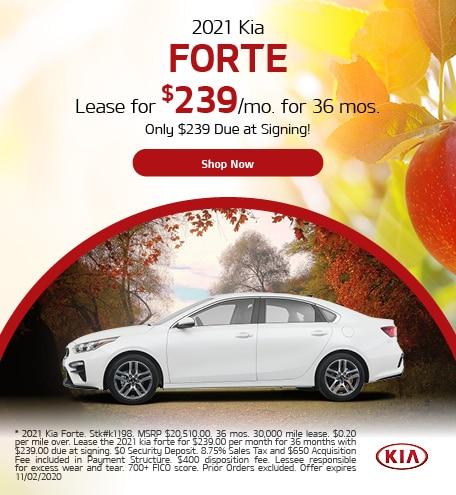 2021 Kia Forte October