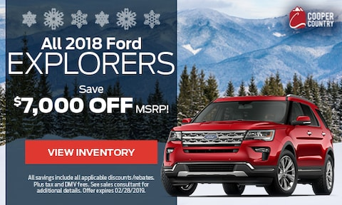 All 2018 Ford Explorers