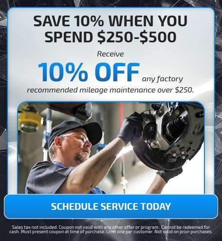 SAVE 10% WHEN YOU SPEND $250-$500