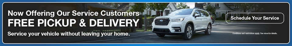 Now Offering Our Service Customers Free Pickup & Delivery