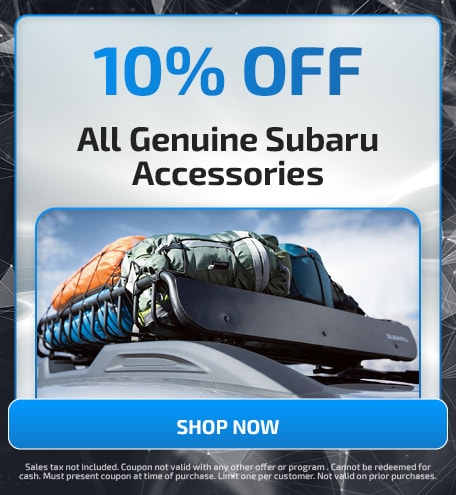 10% Off All Genuine Subaru Accessories