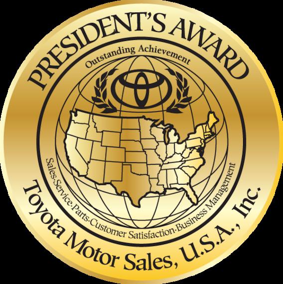 Image result for toyota president's award