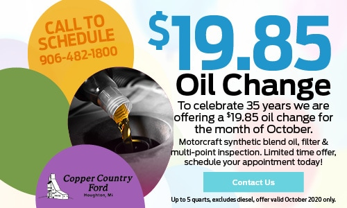 Oil Change for the Month of October