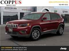 New 2020 Jeep Cherokee LATITUDE LUX 4X4 Sport Utility in Tiffin, OH