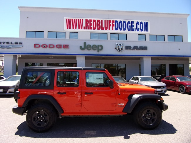 New 2018 Jeep Wrangler UNLIMITED SPORT 4X4 Sport Utility for sale in Red Bluff at Red Bluff Dodge Chrysler Jeep Ram