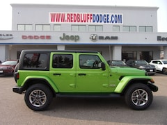 New Cars 2018 Jeep Wrangler UNLIMITED SAHARA 4X4 Sport Utility 1C4HJXEG6JW320744 Red Bluff, CA