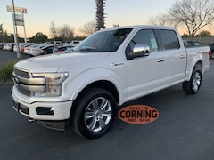 New Ford cars, trucks, and SUVs 2019 Ford F-150 Platinum Super Crew for sale near you in Corning, CA
