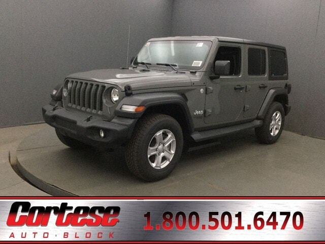 Featured New 2018 Jeep Wrangler UNLIMITED SPORT S 4X4 Sport Utility for Sale in Rochester, NY