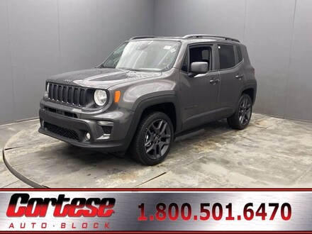 Featured New 2021 Jeep Renegade 80TH ANNIVERSARY 4X4 Sport Utility for Sale in Rochester, NY