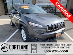Certified Pre-Owned 2016 Jeep Cherokee Latitude SUV 1C4PJMCS9GW215786 for Sale in Cortland, NY