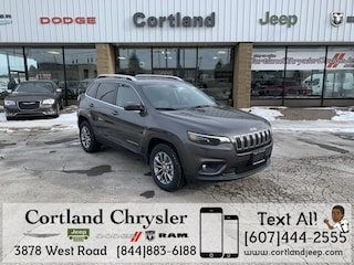New 2019 Jeep Cherokee LATITUDE PLUS 4X4 Sport Utility 2192410 for sale in Cortland, NY
