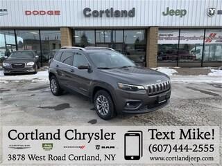 New 2019 Jeep Cherokee LATITUDE PLUS 4X4 Sport Utility 2192410 for sale in Cortland, NY