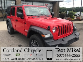 New 2018 Jeep Wrangler UNLIMITED SPORT S 4X4 Sport Utility for sale in Cortland, NY