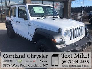 New 2019 Jeep Wrangler UNLIMITED SPORT 4X4 Sport Utility 2193050 for sale in Cortland, NY