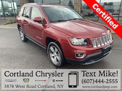 Certified Pre-Owned 2016 Jeep Compass High Altitude SUV 1C4NJDEB8GD768235 for Sale in Cortland, NY