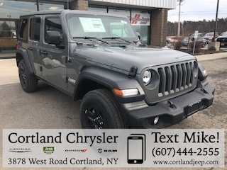 New 2019 Jeep Wrangler UNLIMITED SPORT 4X4 Sport Utility 2193070 for sale in Cortland, NY