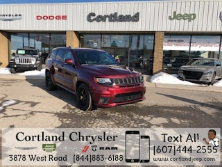 New 2018 Jeep Grand Cherokee TRACKHAWK 4X4 Sport Utility 2182560 for sale in Cortland, NY