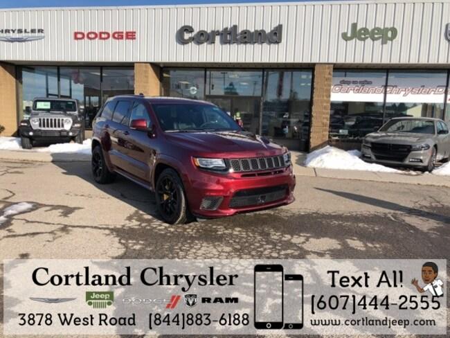 New 2018 Jeep Grand Cherokee TRACKHAWK 4X4 Sport Utility Cortland, NY