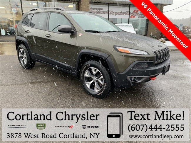 Used 2015 Jeep Cherokee Trailhawk SUV for sale in Cortland, NY