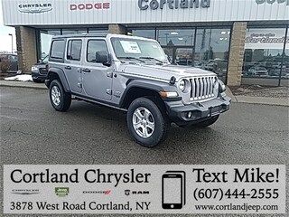 New 2019 Jeep Wrangler UNLIMITED SPORT S 4X4 Sport Utility for sale in Cortland, NY