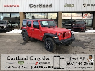 New 2018 Jeep Wrangler UNLIMITED SPORT S 4X4 Sport Utility 2182910 for sale in Cortland, NY