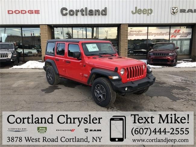 New 2018 Jeep Wrangler UNLIMITED SPORT S 4X4 Sport Utility Cortland, NY