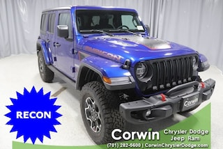 New 2020 Jeep Wrangler UNLIMITED RUBICON RECON 4X4 Sport Utility dealer in Fargo ND - inventory